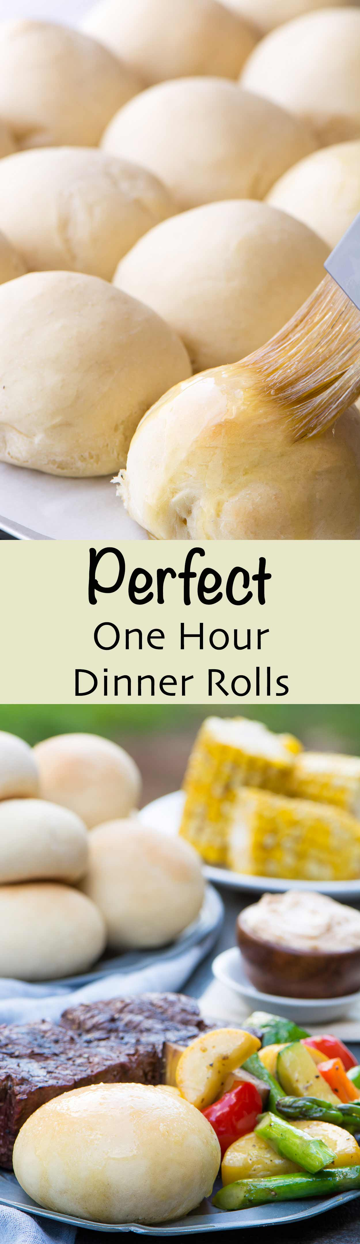 Perfect One Hour Dinner Rolls that are light and flaky. You can't have just one!