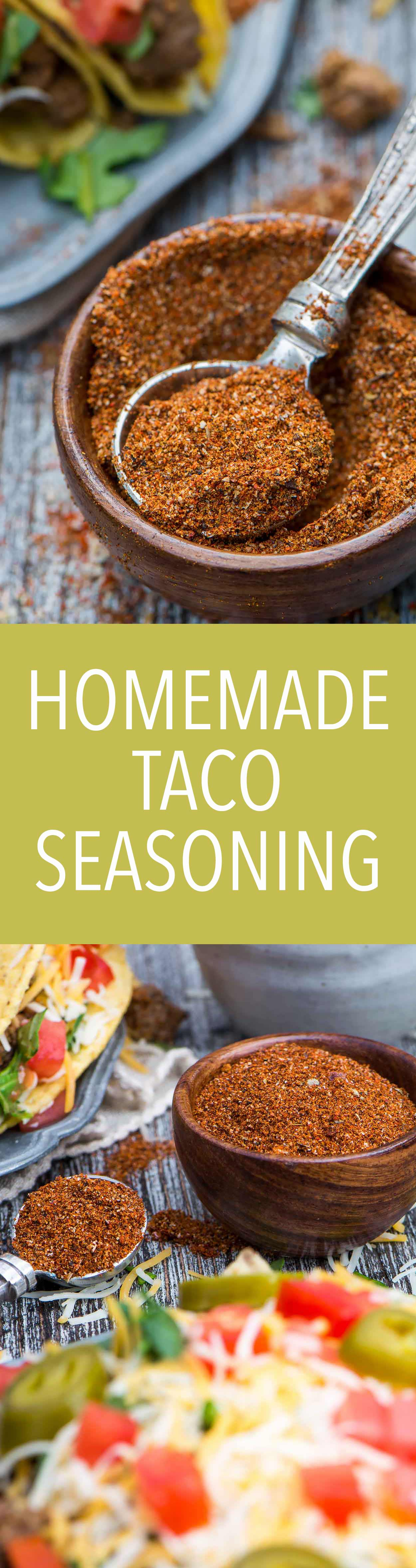 Homemade Taco Seasoning is made from common pantry ingredients and takes only two minutes to make! | Simple Revisions