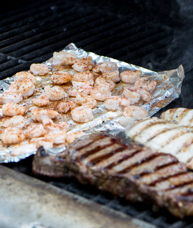 Chicken, Steak, Shrimp Fajitas