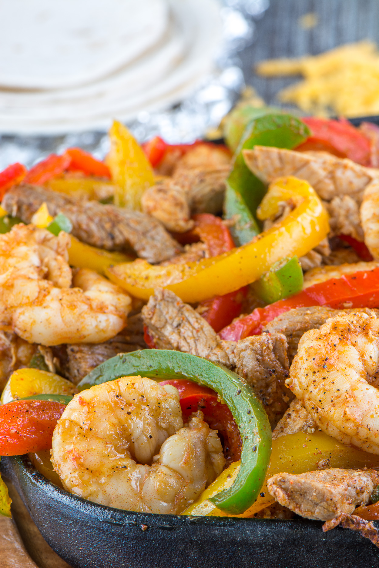 Chicken Steak And Shrimp Fajitas Simple Revisions