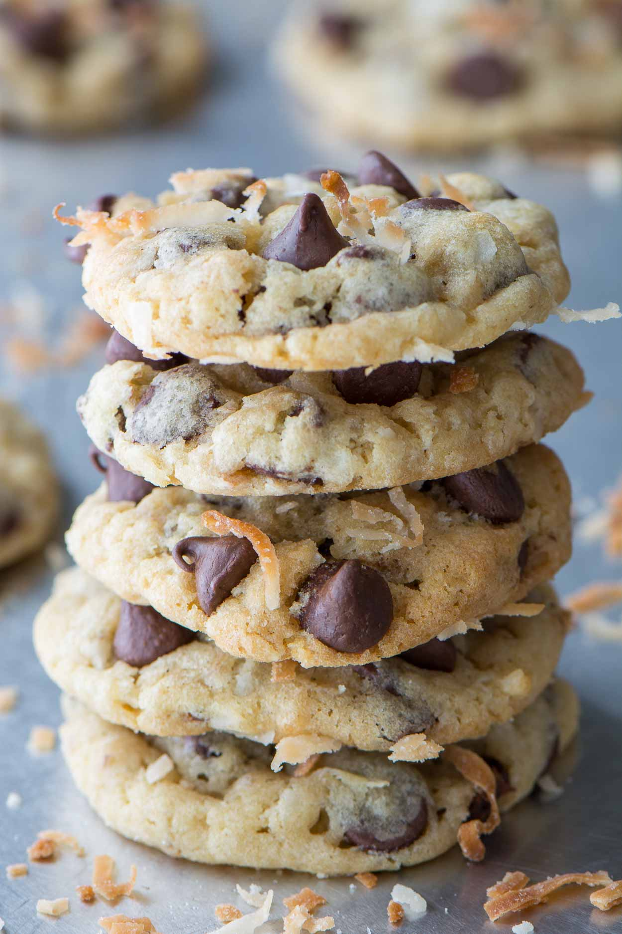 Chocolate Chip Oat Coconut Cookies
